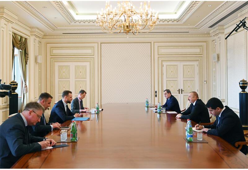 Президент Ильхам Алиев принял делегацию во главе с министром иностранных дел Литвы