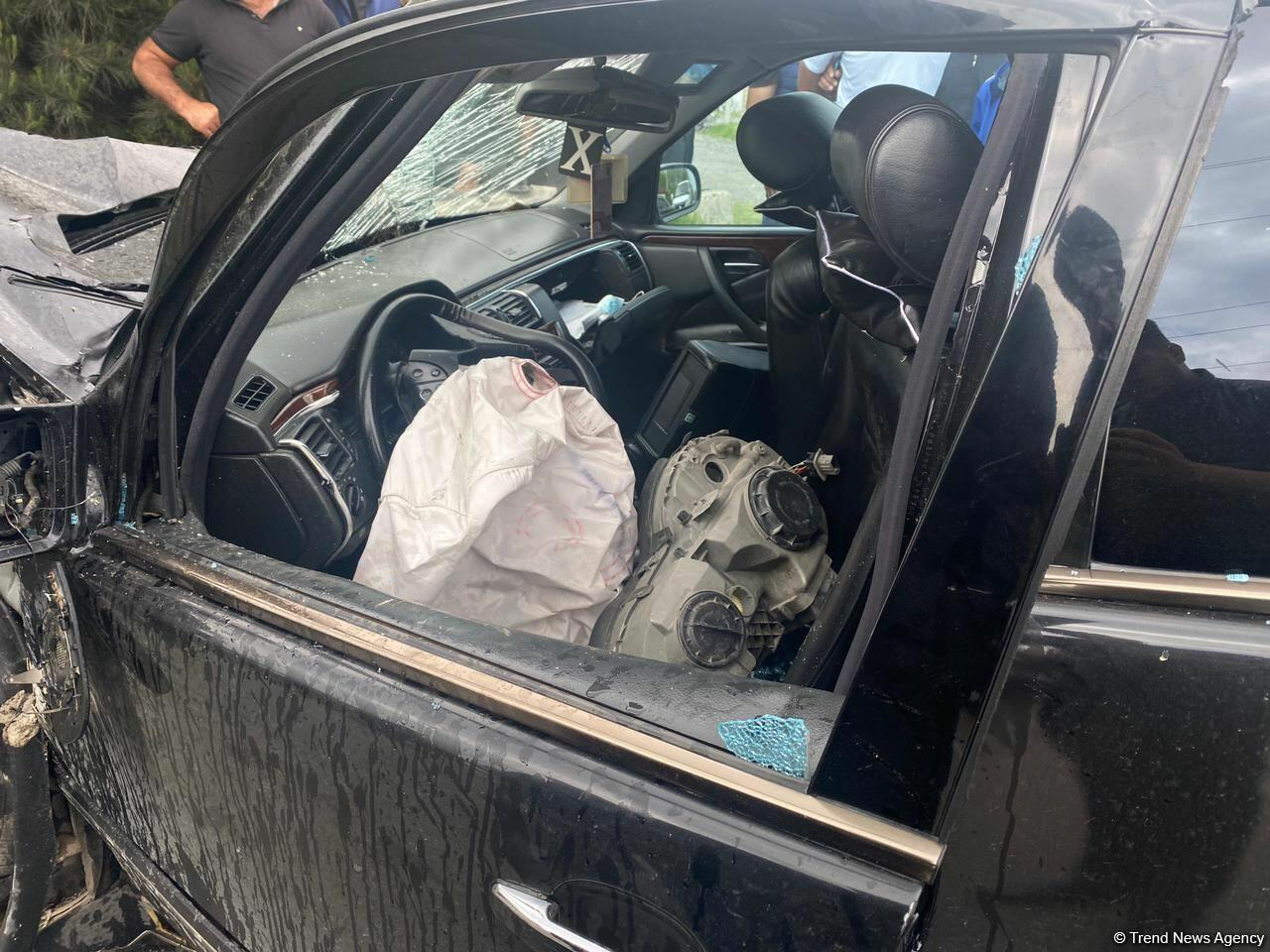 Тяжелая авария в Агдаме - есть пострадавшие