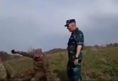 Армянский командир опозорился перед азербайджанскими солдатами в Зангезуре  - ВИДЕО