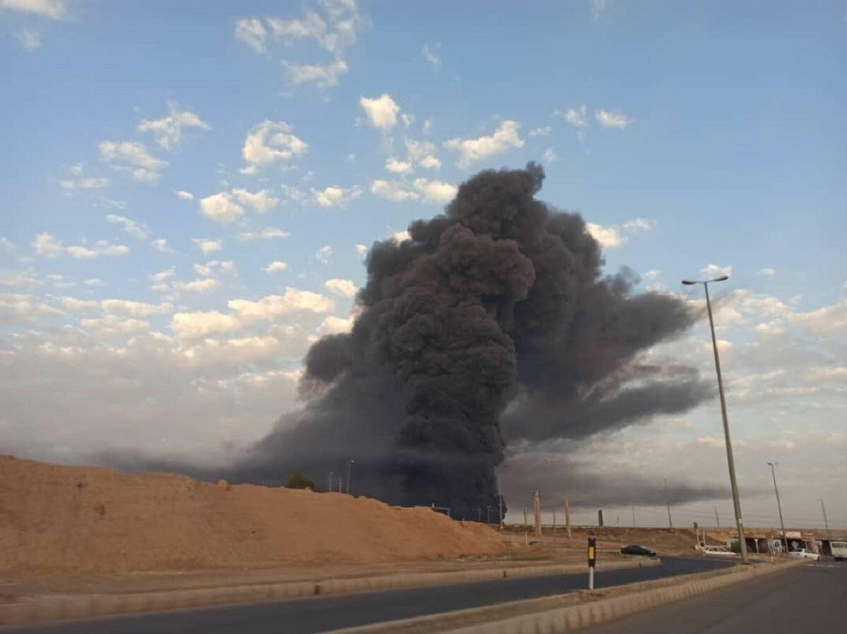 Пожар на химзаводе в Иране