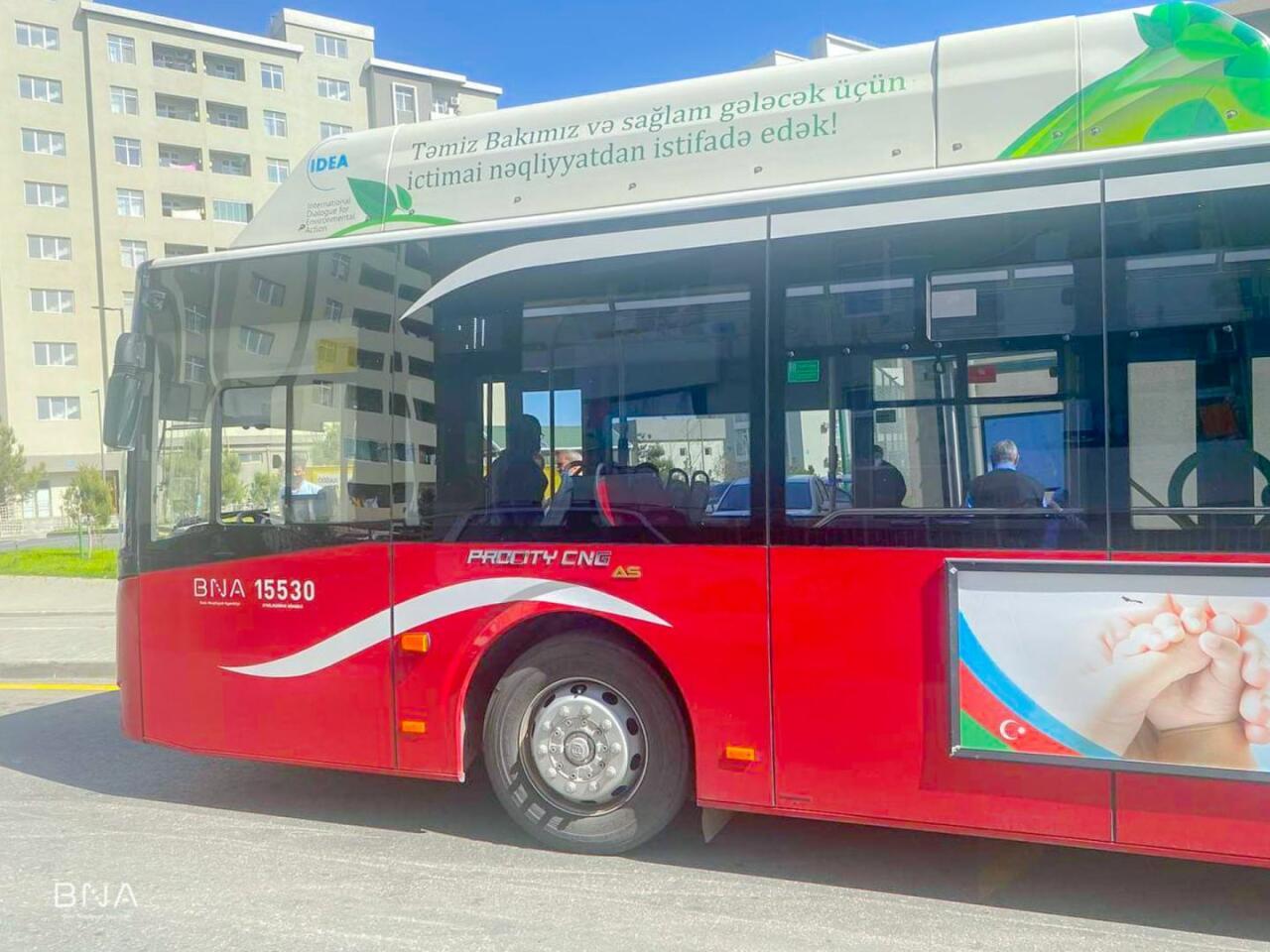 В Баку открылся новый автобусный маршрут