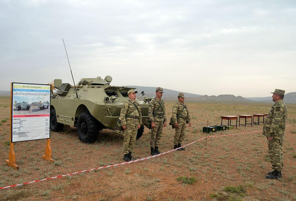 ВС Азербайджана участвуют в занятиях по повышению боеготовности подразделений радиационной, химической и бактериологической защиты