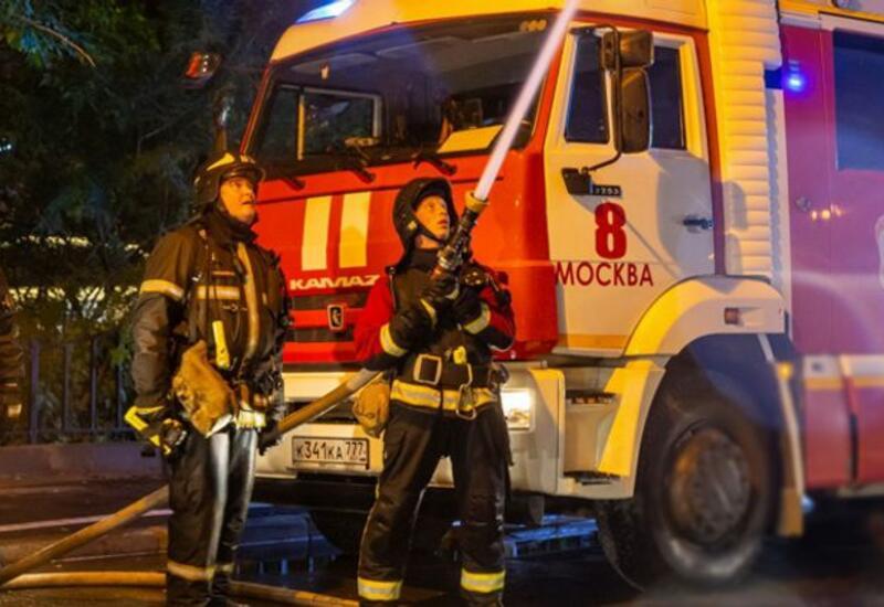 Крупный пожар в московской гостинице,