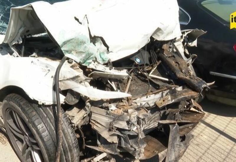 Кадры автомобиля, в котором погиб Аслан Гусейнов