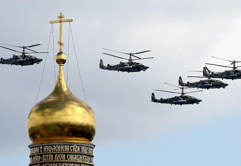 Репетиция воздушной части парада Победы прошла в небе над Москвой