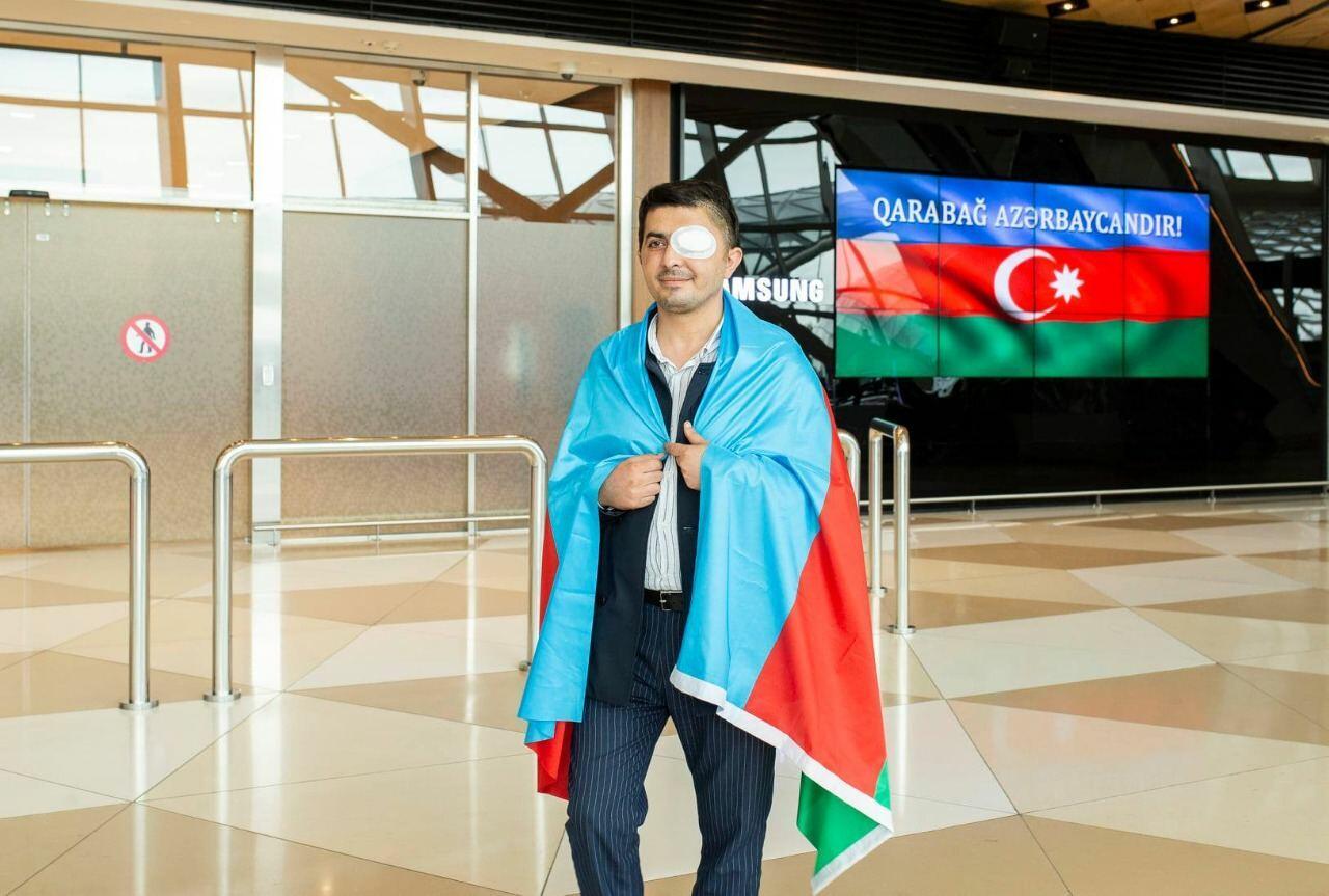 Еще 2 ветерана Отечественной войны, отправленные на лечение в Турцию, вернулись в Азербайджан