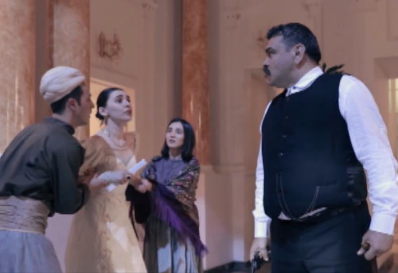 Съемки художественно-документального фильма во Дворце счастья в Баку
