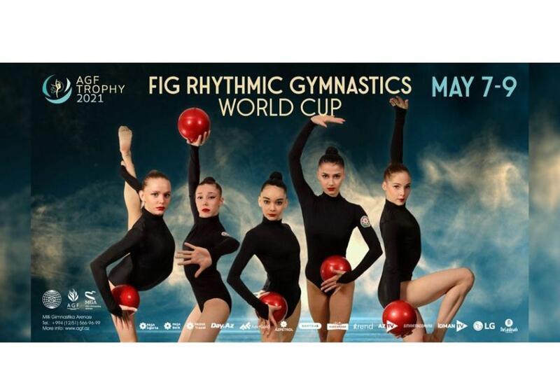 Сборная Азербайджана провела подиумные тренировки предстоящего Кубка мира по художественной гимнастике в Баку