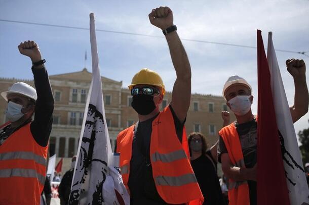 Массовые забастовки в Греции