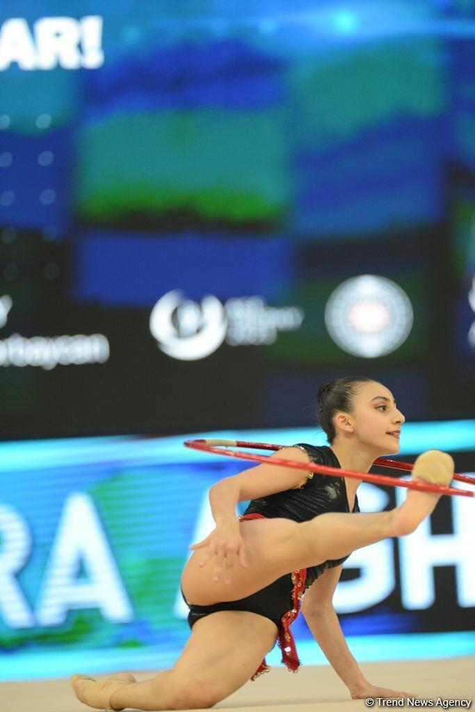 Лучшие моменты первого дня Кубка мира по художественной гимнастике в Баку
