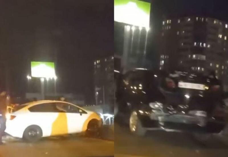 Цепная авария в Баку: столкнулись пять автомобилей