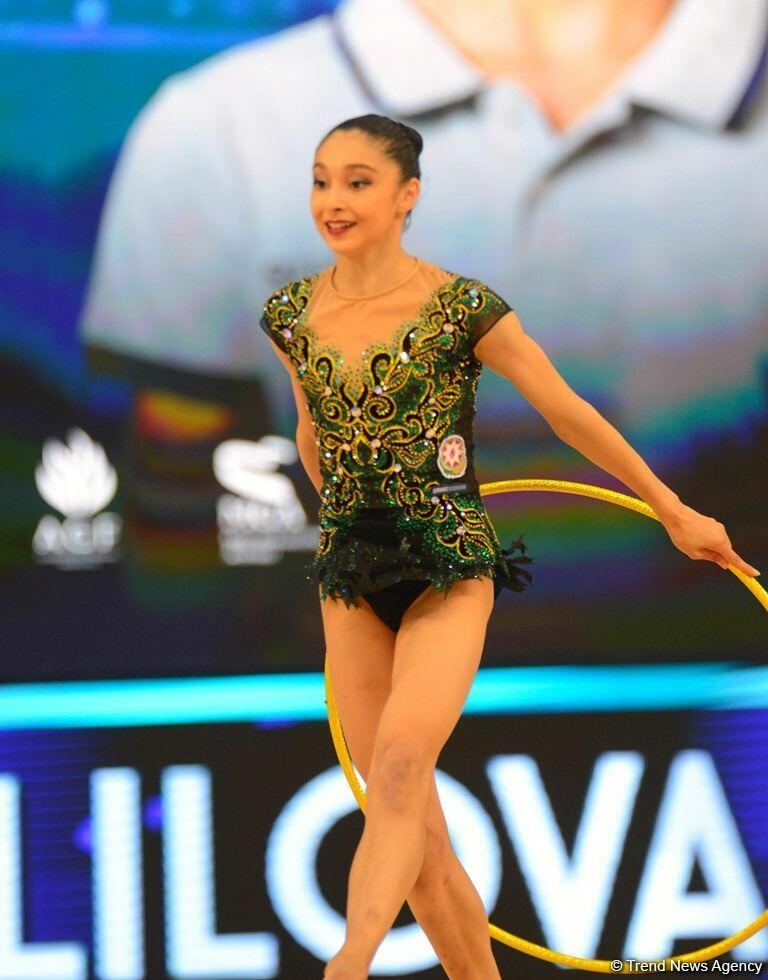 Кубок мира в Баку - итоги выступления азербайджанских гимнасток в упражнении с обручем и мячом