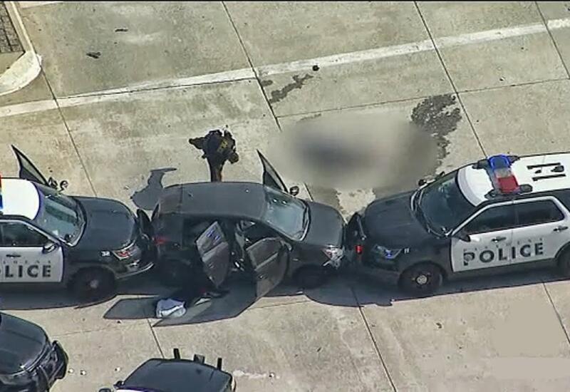 В стиле GTA: преступник угнал машину полиции, врезался и угнал другую