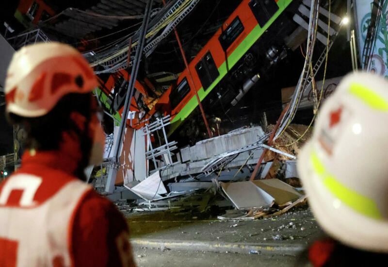 Возросло число жертв крушения метромоста в Мехико