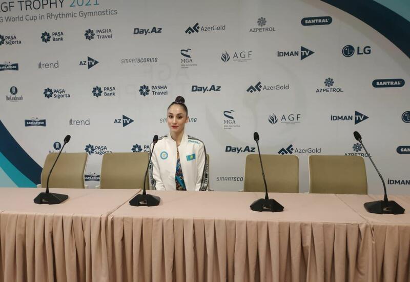 Азербайджанские гимнастки очень сильные