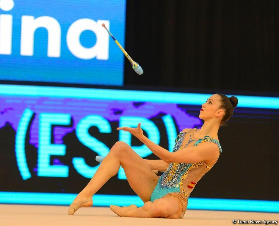 В Национальной арене гимнастики в Баку продолжаются соревнования Кубка мира