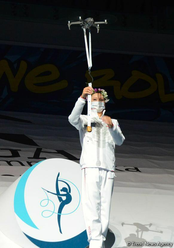 В Баку прошла церемония награждения победителей и призеров Кубка мира по художественной гимнастике