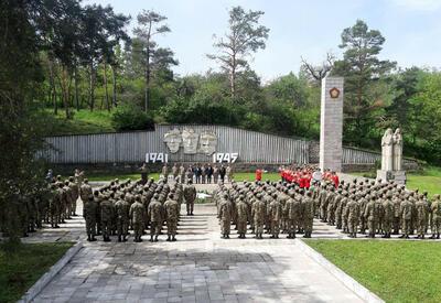 В Шуше отметили 76-ю годовщину Победы во Второй мировой войне - ФОТО - ВИДЕО