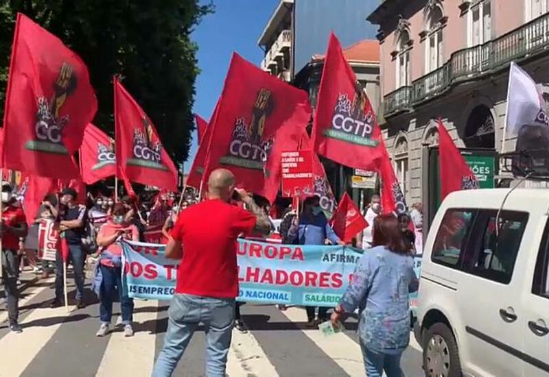 Протесты в Порту на фоне социального саммита ЕС