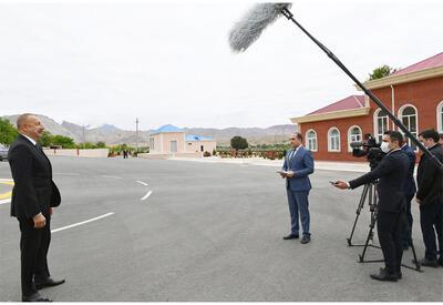 Президент Ильхам Алиев дал интервью Азербайджанскому телевидению - ОБНОВЛЕНО - ФОТО - ВИДЕО