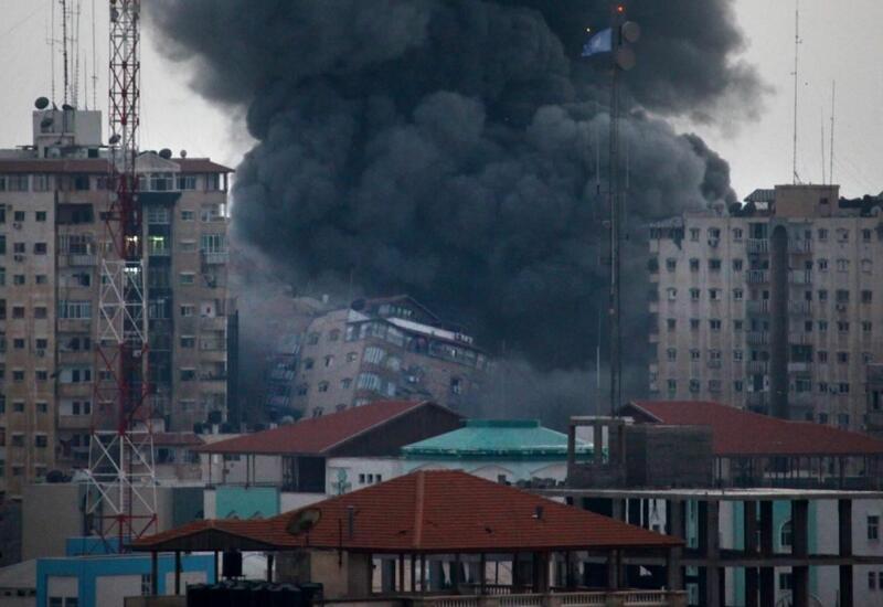 В секторе Газа рухнуло высотное здание