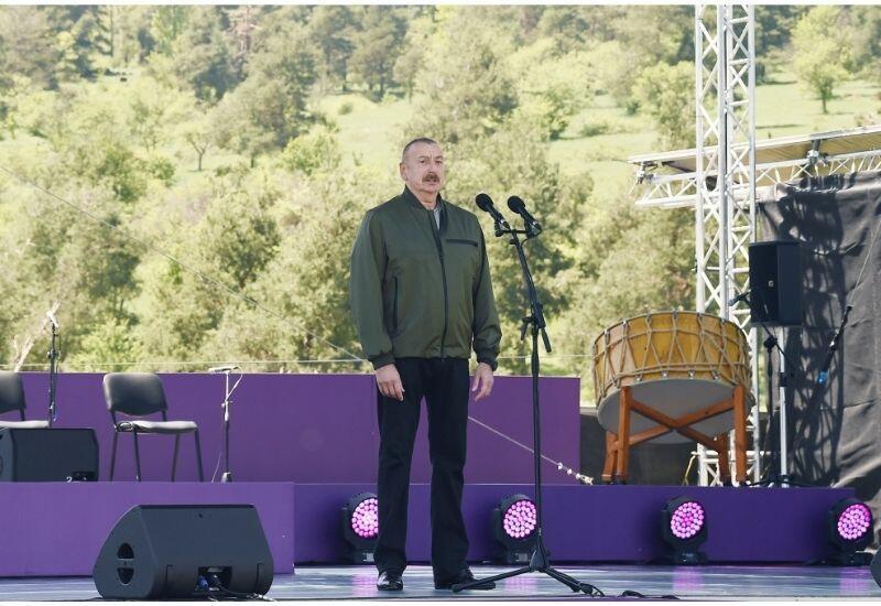 """Президент Ильхам Алиев: Отныне фестиваль """"Харыбюльбюль"""" будет проводиться в Шуше ежегодно"""