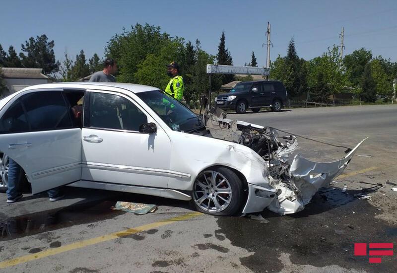 Авария на дороге Гаджигабул-Сабирабад, есть пострадавшие