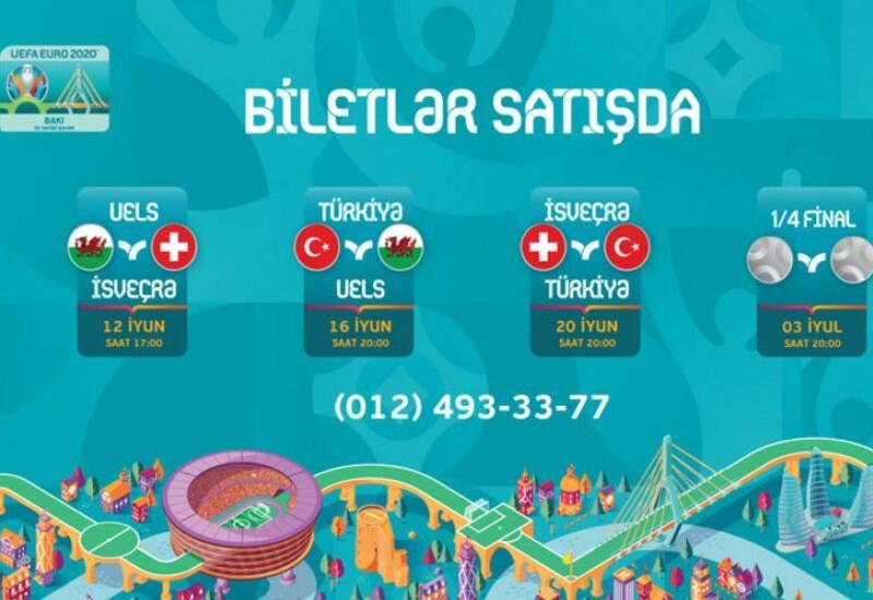 Завтра в продажу поступят билеты на матчи ЕВРО-2020 в Баку