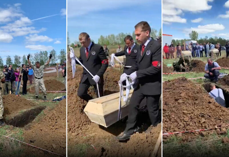 Отец с сыном на скорость выкопали могилу и выиграли 30 тысяч рублей
