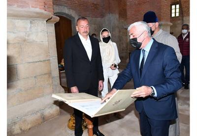 Президент Ильхам Алиев и Первая леди Мехрибан Алиева посетили Албанскую церковь Святой Девы Марии - ФОТО - ВИДЕО