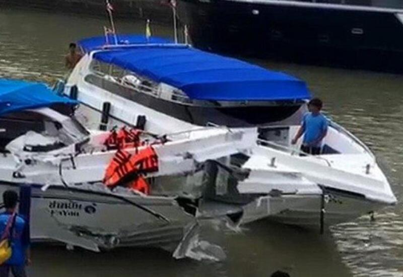 В России столкнулись два катера