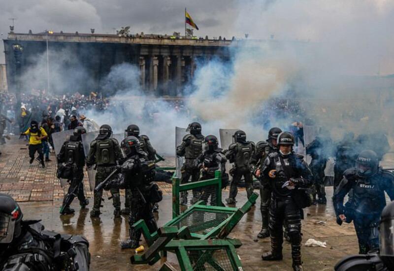 В Колумбии прошли антиправительственные протесты