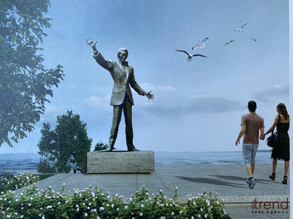Бронзовый памятник Муслиму Магомаеву будет готов через месяц