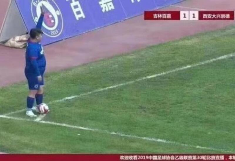 В Китае футбольный клуб подписал 126-килограммового игрока
