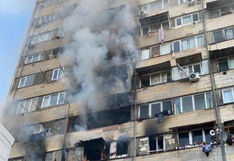 Пожар в жилом доме в Тбилиси