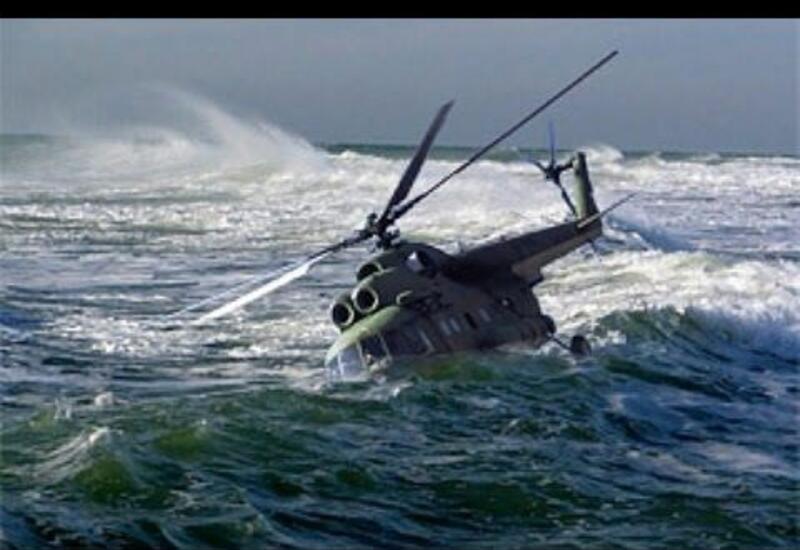 В России вертолет упал в море
