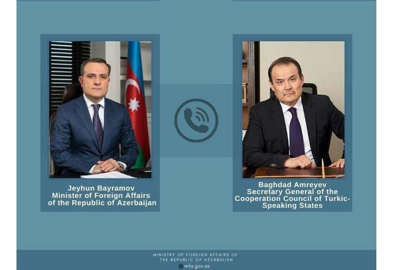 Глава МИД Азербайджана и генсек Тюркского совета обсудили перспективы развития организации