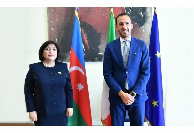 Сахиба Гафарова и госсекретарь МИД Италии обсудили вопросы, представляющие взаимный интерес