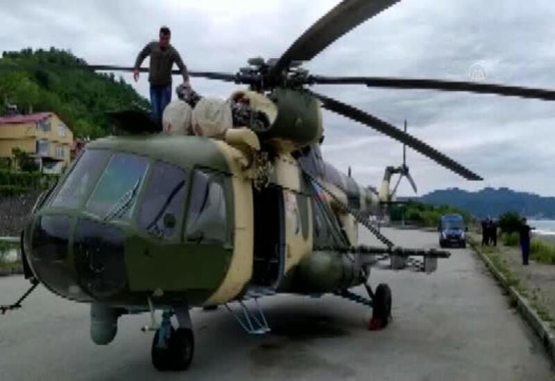 В Турции отремонтировали экстренно севший вертолет ВВС Азербайджана