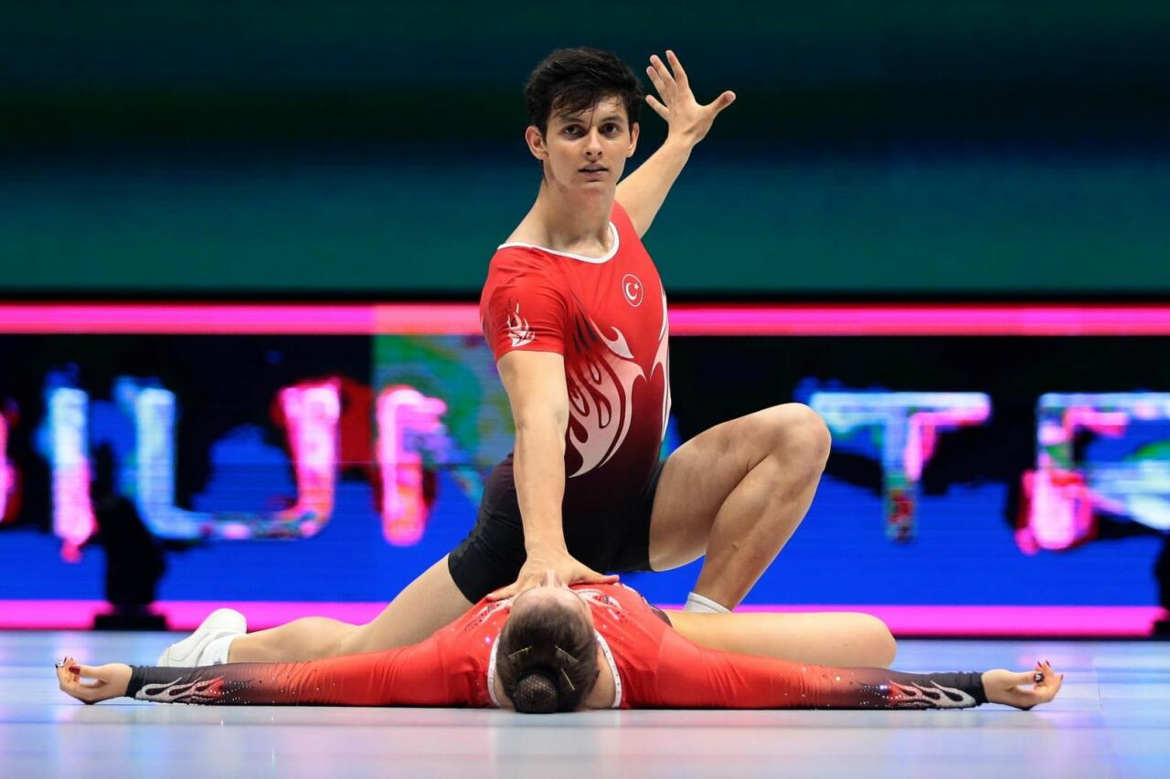 В Баку проходят подиумные тренировки в преддверии 16-го чемпионата мира по аэробной гимнастике