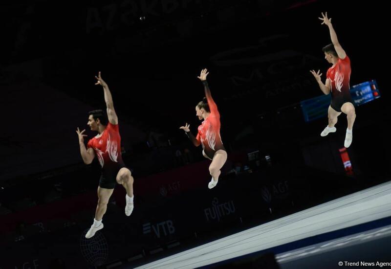 В Баку определились финалисты ЧМ по аэробной гимнастике среди трио
