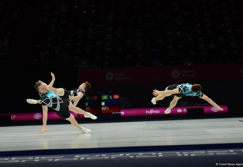 В Баку стартовал первый день 16-го чемпионата мира по аэробной гимнастике