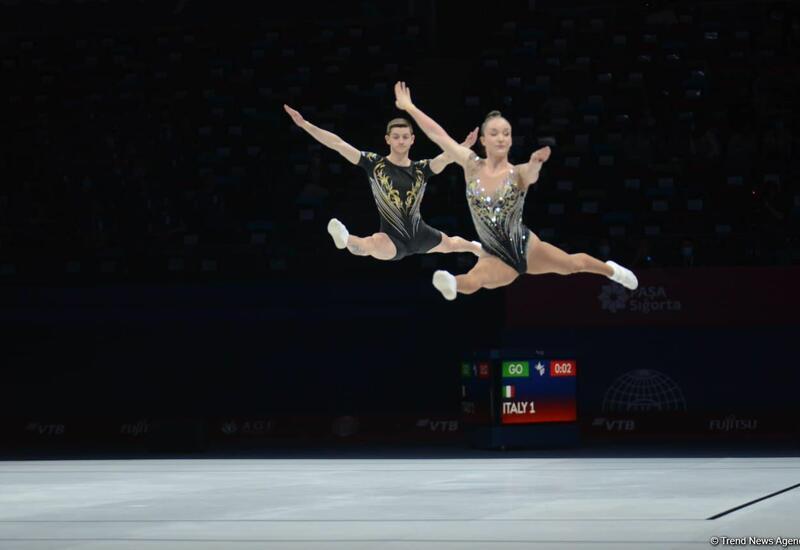 В Баку определились финалисты чемпионата мира по аэробной гимнастике среди смешанных пар