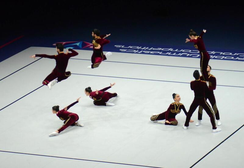 Команда Азербайджана вышла в финал чемпионата мира по аэробной гимнастике в программе аэродэнс