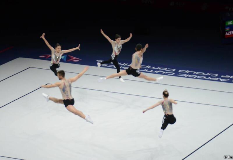 Азербайджанская команда вышла в финал чемпионата мира по аэробной гимнастике в Баку