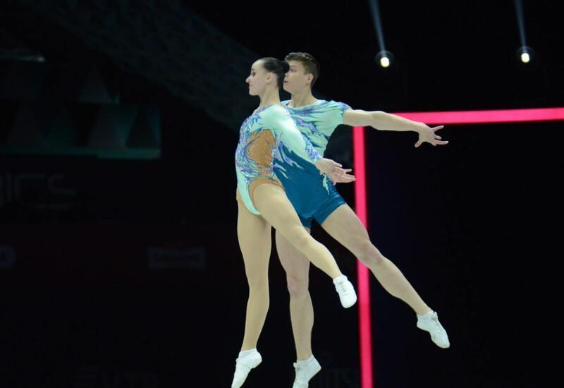 Лучшие моменты второго дня чемпионата мира по аэробной гимнастике в Баку
