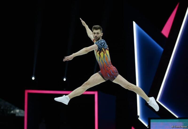 Азербайджанский гимнаст Владимир Долматов вышел в финал чемпионата мира по аэробной гимнастике в Баку