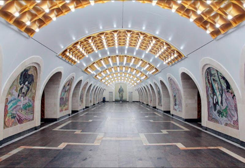 В бакинском метро открылась выставка, посвященная 880-летию Низами