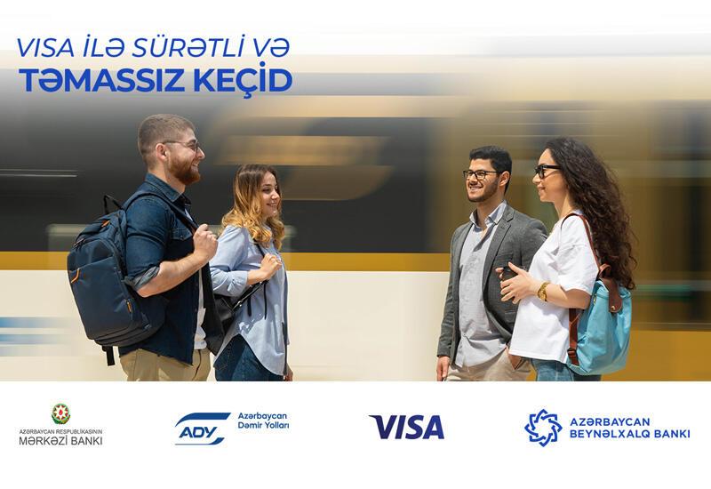 Visa, Азербайджанские железные дороги, Центробанк Азербайджана и Международный Банк Азербайджана расширяют возможность бесконтактной оплаты проезда в пригородных поездах (R)
