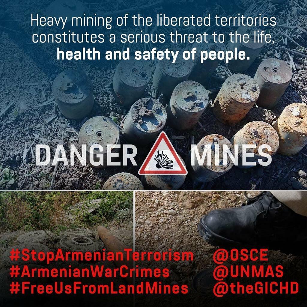 Первый вице-президент Мехрибан Алиева: Отказываясь предоставить карты минных полей, руководство Армении продолжает нарушать международное гуманитарное право и осуществлять политику террора против Азербайджана
